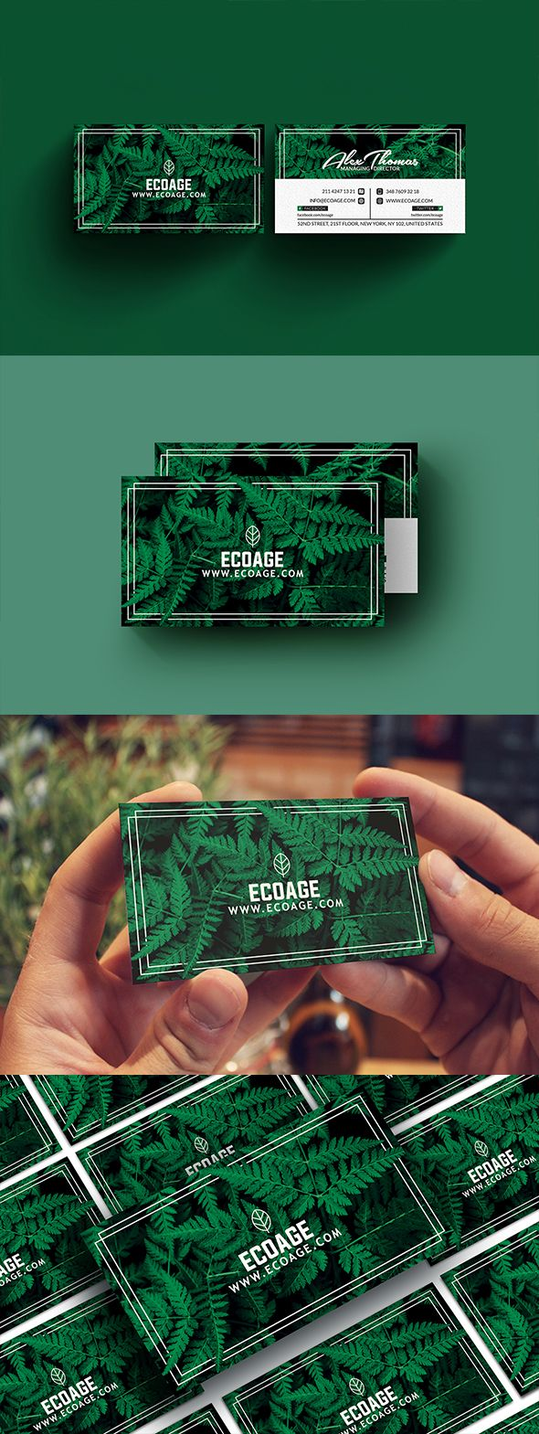 Free Natural Business Card Template - A great business card to make your clients stay in touch with you, and attract some new ones down the line. This stylish design will attract attention and will leave a lasting impression to your audience. DOWNLOAD: https://www.facebook.com/groups/271913649919398/