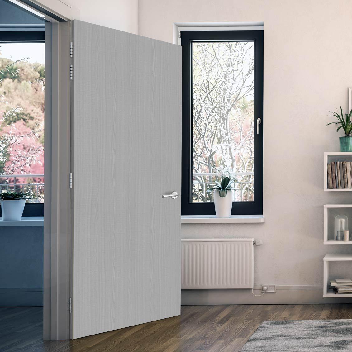 Bespoke Door Flush American Ash Veneer 60 Minute Fire Rated Prefinished Greydoor Firedoor Fire Rated Doors Fire Doors Doors