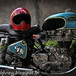 Bell Moto 3 on Royal Enfield by spiv20