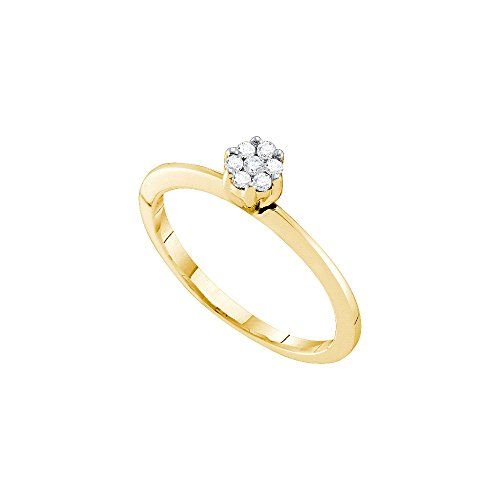 Diamond Wedding Band in 14K Yellow Gold Size-12.75 1//8 cttw, G-H,I2-I3