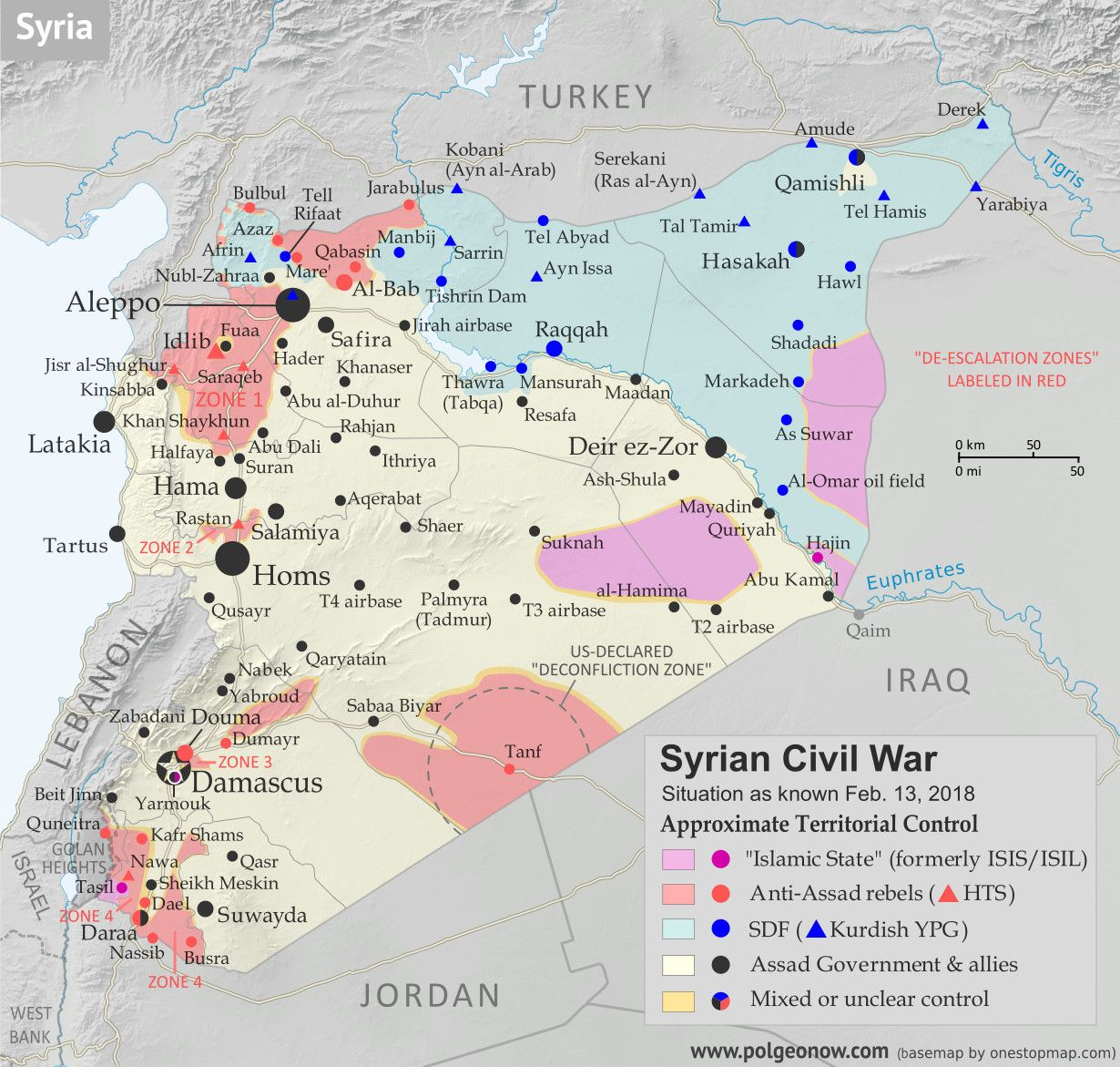 Political Geography Now: Syrian Civil War Map & Timeline - February ...