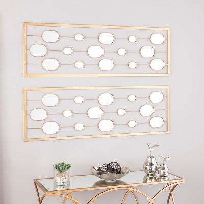 Aiden Lane 2pc Sarova Decorative Wall Mirror Panels Gold Zaslony