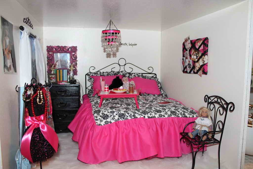American girl doll bedroom ideas kids shabby-chic style with ...