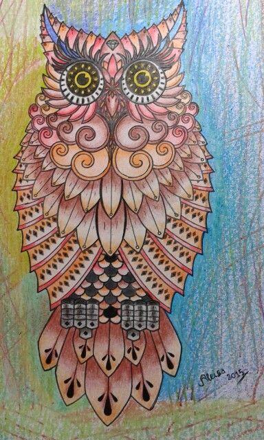 Um Desenho A Lapis Baykus Mandala Bakir