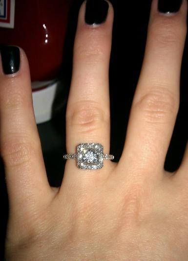 fb5b5e5d8a545 1.5 carat princess cut halo diamond ring. | Halo And Double Halo ...