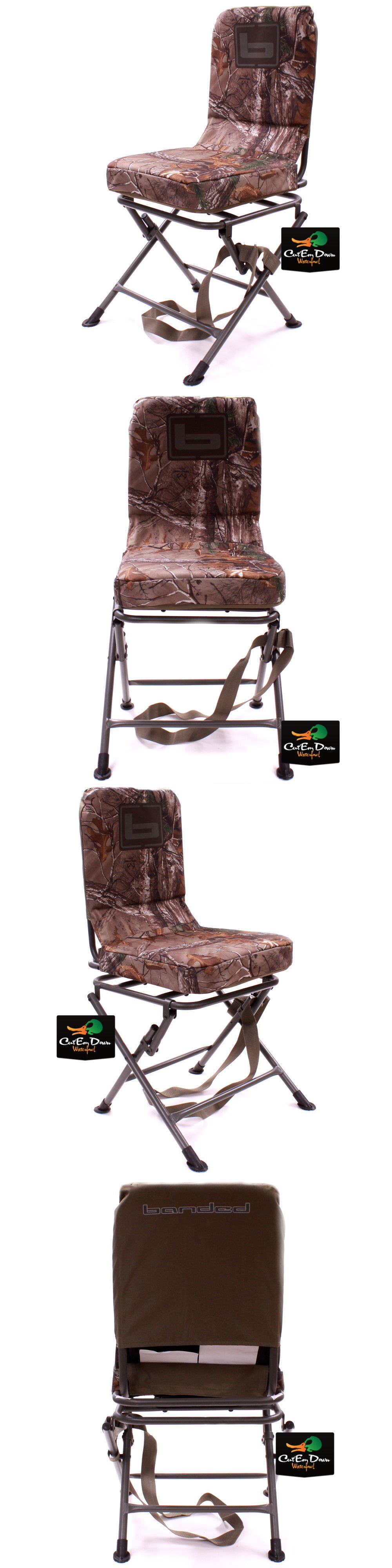 Seats and Chairs New Banded Swivel Blind Chair Padded Seat