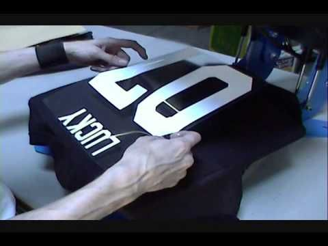 Heat Transfer Tee Shirts With Names  Numbers YouTube - Custom vinyl decals numbers for shirts