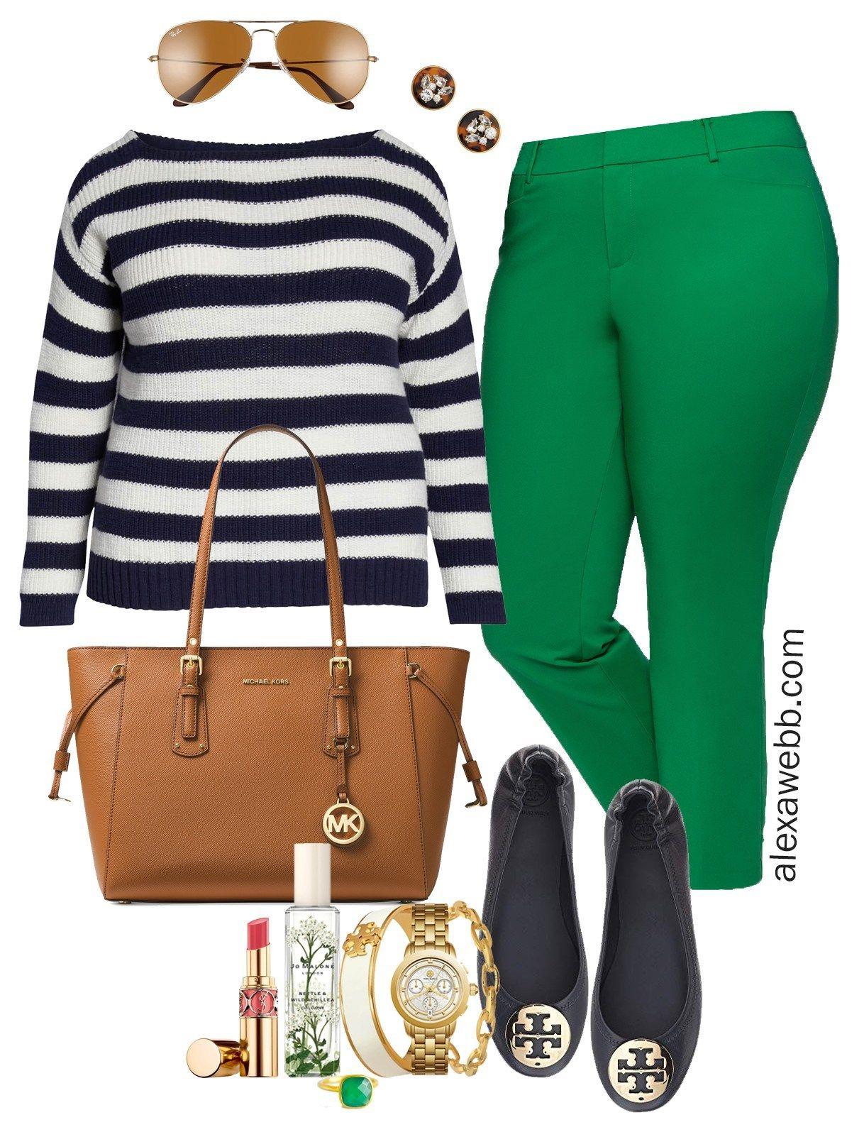Plus Size Bright Green Pants – Part 2 – Alexa Webb