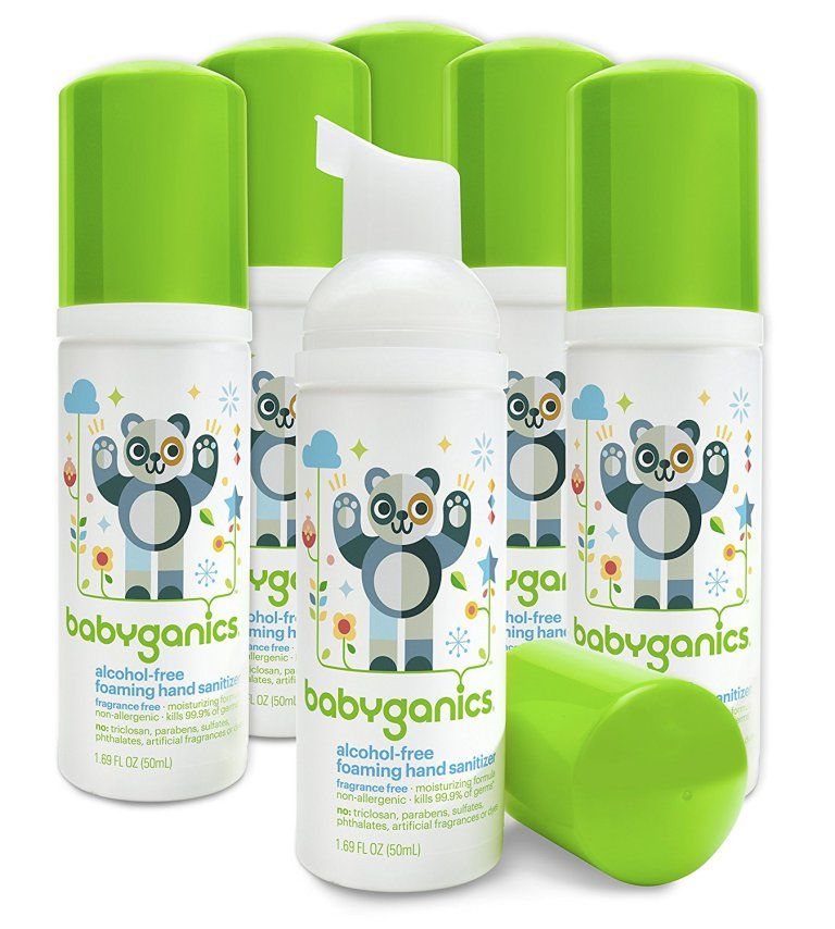 Amazon SIX Babyganics Foaming Hand Sanitizers Only 10.85