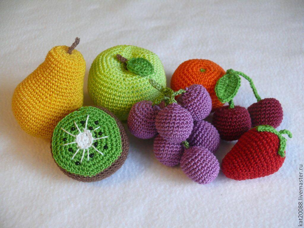 подробной картинки фрукты и овощи вязаные крючком мама