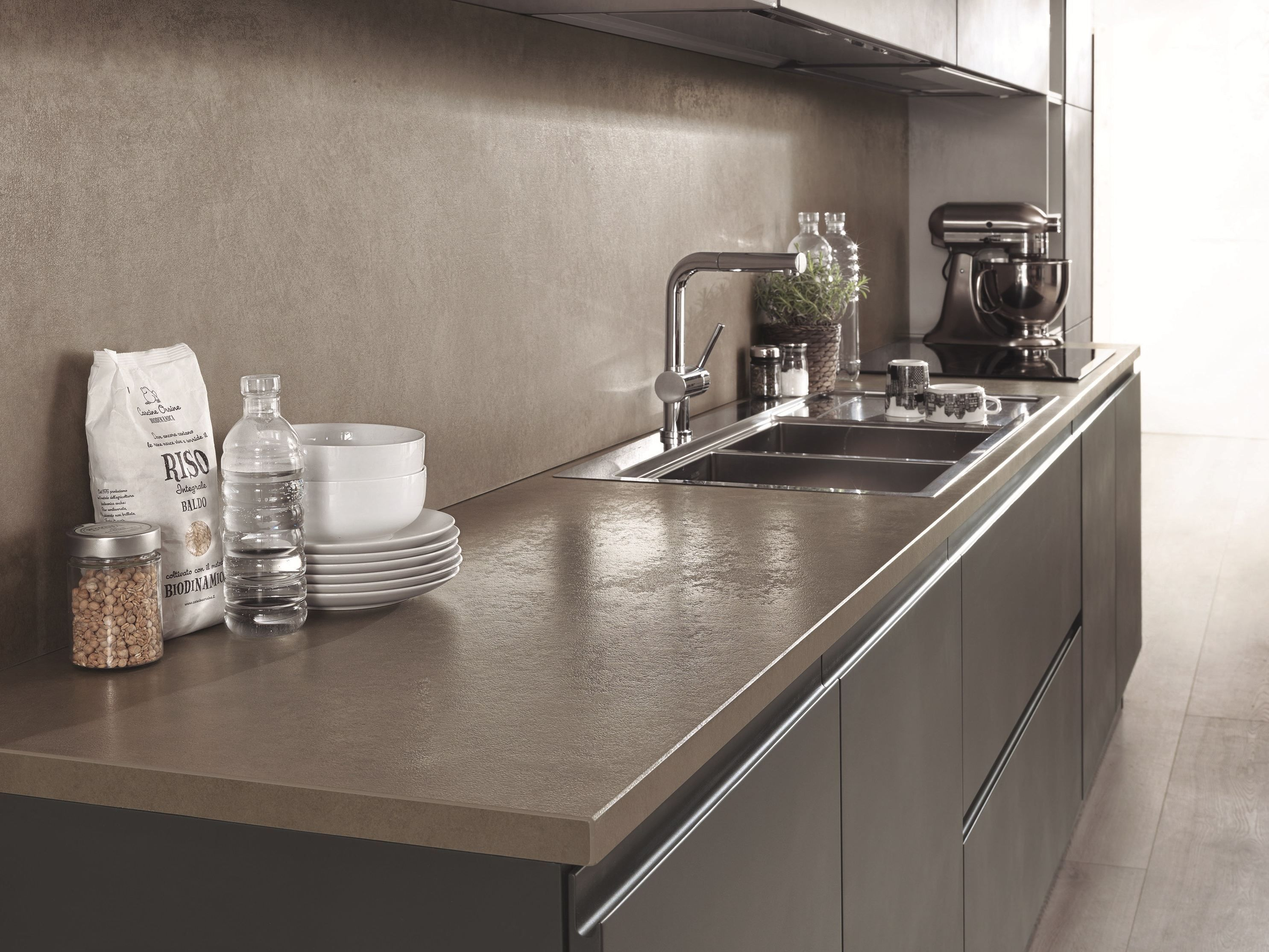 Ceramic Kitchen Top Marble Sink Worktop Laminam On By Kitchens