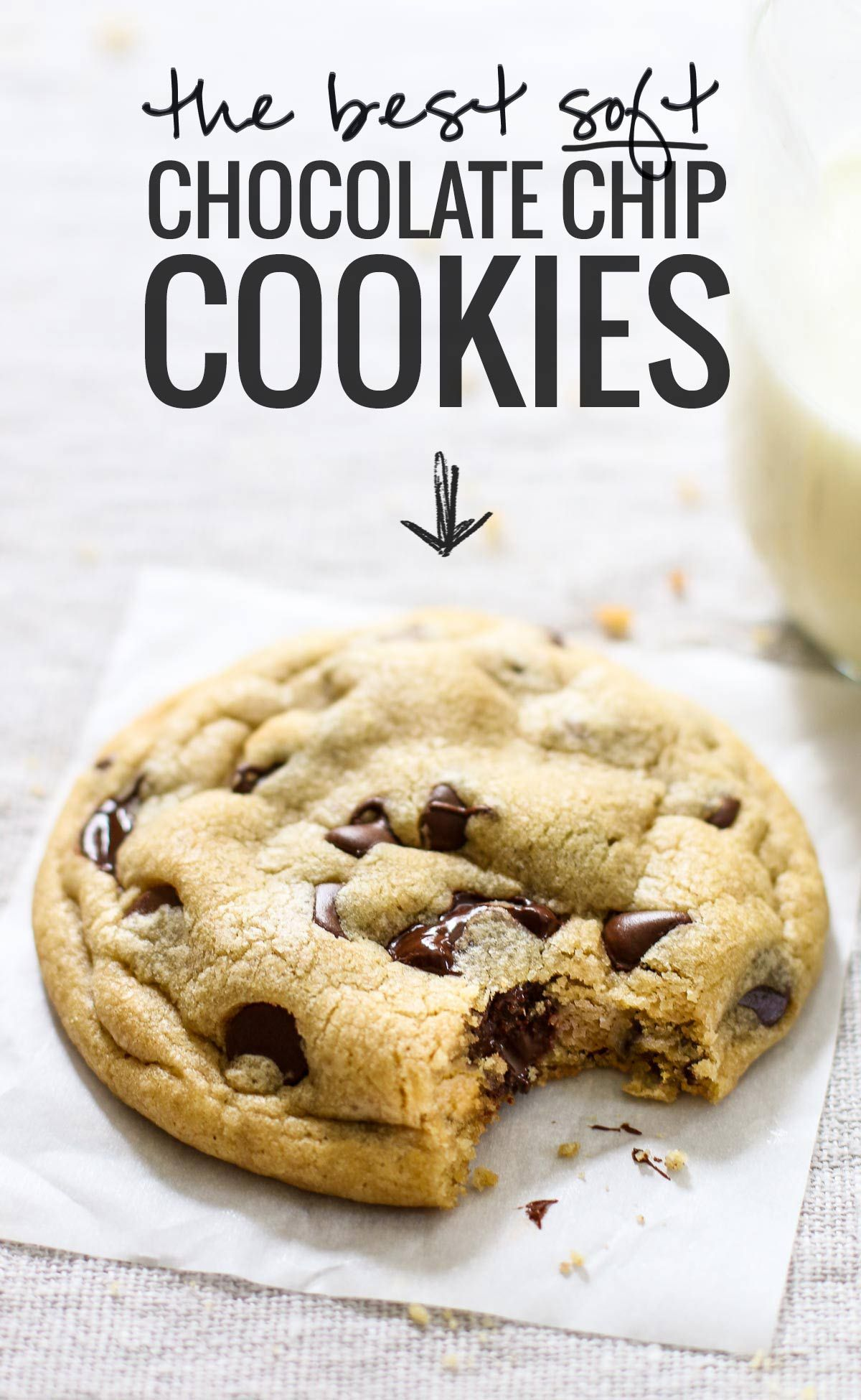 The Best Soft Chocolate Chip Cookies - Pinch of Yum #cookies