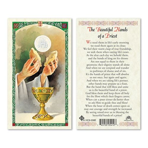 Beautiful Hands Of A Priest Laminated Prayer Card Prayer Cards