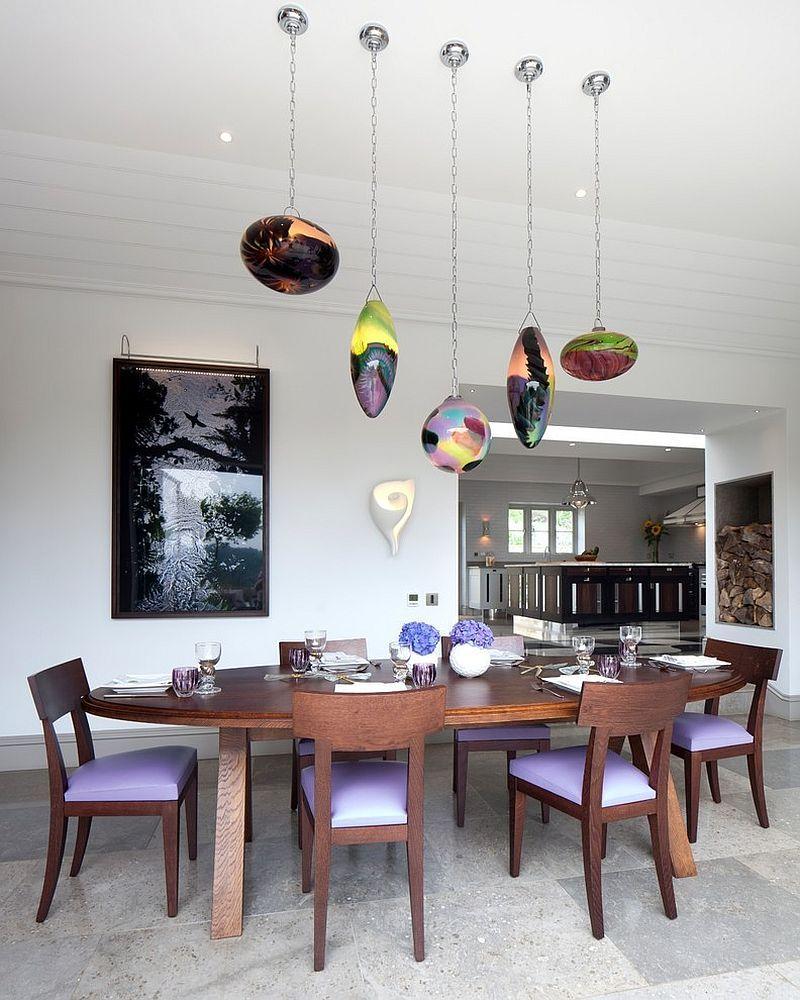 Küchendesign rot und weiß beleuchtung esstisch  quadratisch rund rechteckig und oval sind