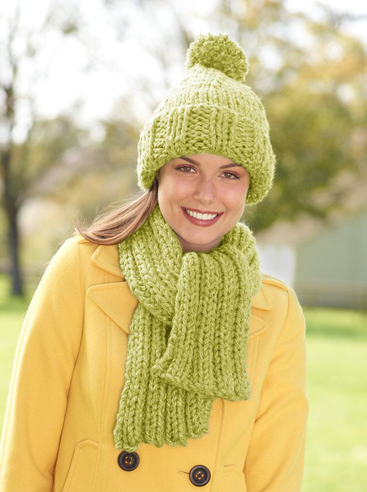 Hat And Scarf Set in Lion Brand Hometown USA - L10447B. Discover more  Patterns by Lion Brand at LoveKnitting. The world s largest range of  knitting supplies ... 38efe9b03df