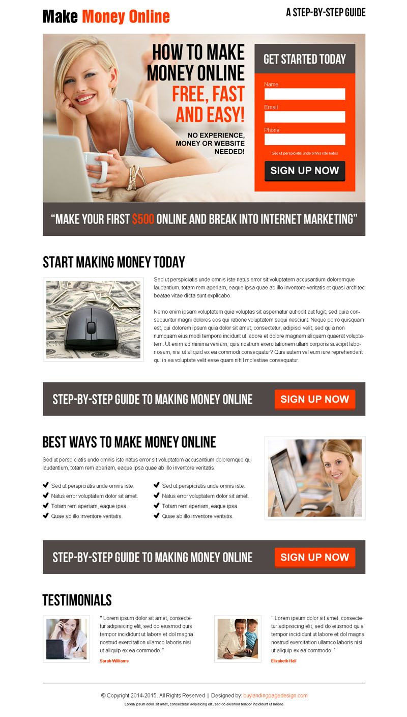 landing page design templates for business marketing conversion ...