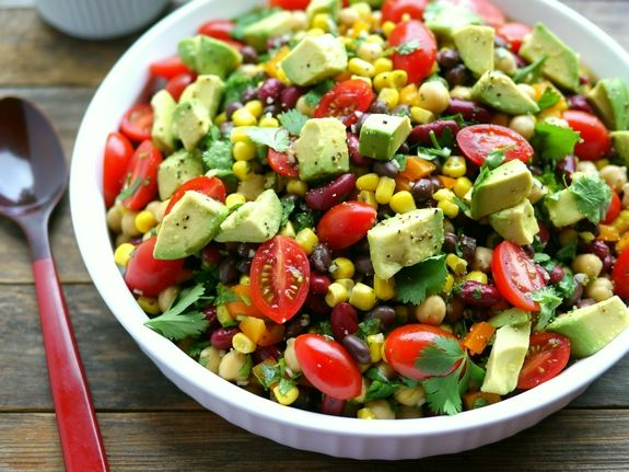 Avocado And Three Bean Salad Three Bean Salad Bean Salad Recipes Bean Salad