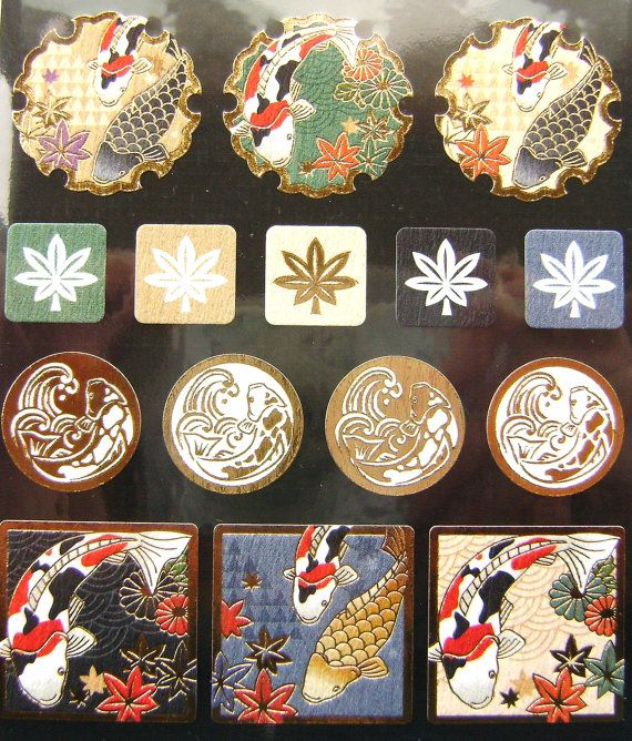 Beautiful Japanese Stickers Koi Fish by FromJapanWithLove on Etsy, $6.75