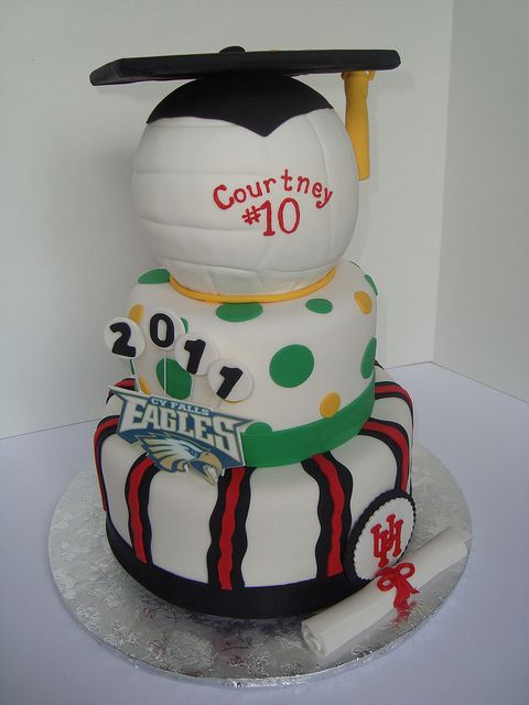 Volleyball Graduation cake by Let There Be Cake, via Flickr