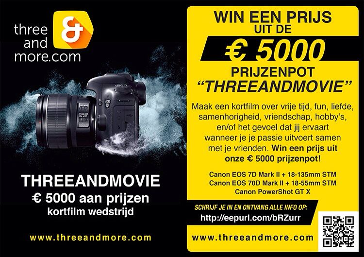 Short Film Contest For Threeandmore Leave Your Info And Participate Have Fun Hobby S Canon Eos Overheid