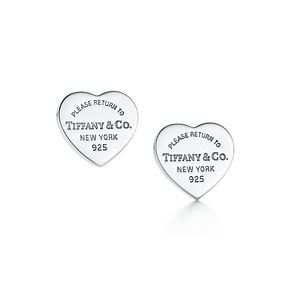 623b107b6 Tiffany & Co. | Item | Return to Tiffany™ mini heart tag earrings in sterling  silver. | United States