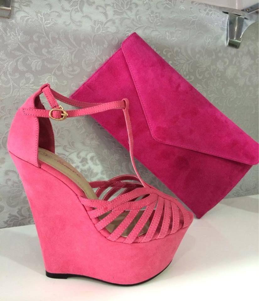 Wedge Heel Sandals - Plataformas Coral