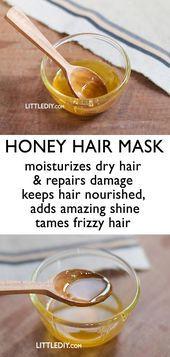 HONEY HAIR MASK FOR SHINY SOFT HAIR