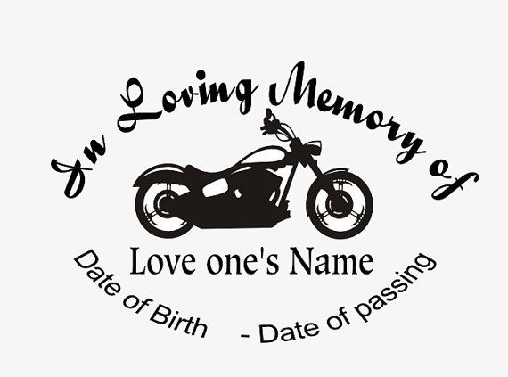 In Loving Memory Car Decal Bike Custom Memory Auto Decal Etsy Loving Memory Car Decals In Loving Memory Tattoos Car Decals