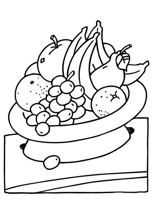 Meyve Sepeti Okul öncesi Boyama Etkinliği Boyama Sayfaları