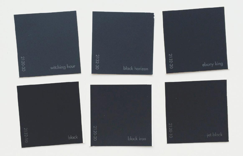 benjamin moore black paints witching hour black horizon. Black Bedroom Furniture Sets. Home Design Ideas