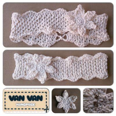 Van Van Handmade: Turbante blanco crudo con flor desmontable