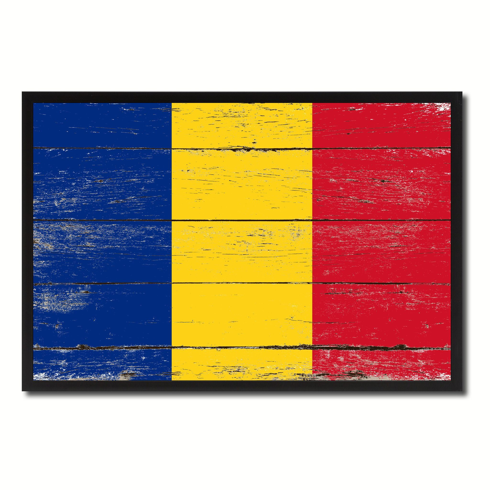 Romania Country National Flag Vintage Canvas Print with Picture ...