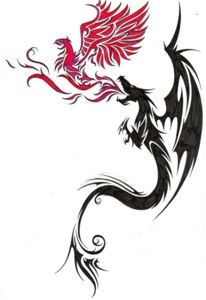 The Dragon And The Phoenix Art Pinterest Ave Fenix Tatuaje