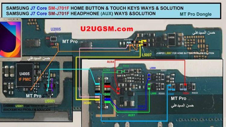 Samsung Galaxy J7 Core J701F Home Key Button Not Working