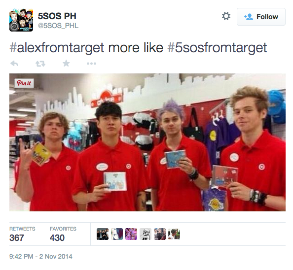 Alex from Target.....or 5sos from Target? COMMENT BELOW