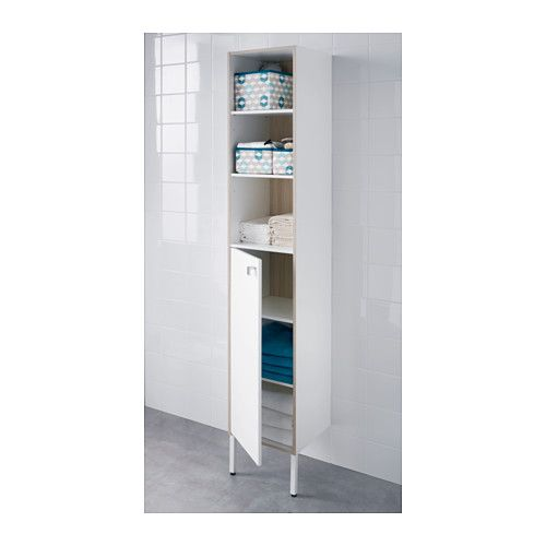 TYNGEN High cabinet, white, ash effect | Small bathroom, Ikea ...
