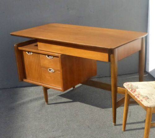 Vintage Danish Mid Century Modern Writing Desk By Floating Top In Antiques Furniture