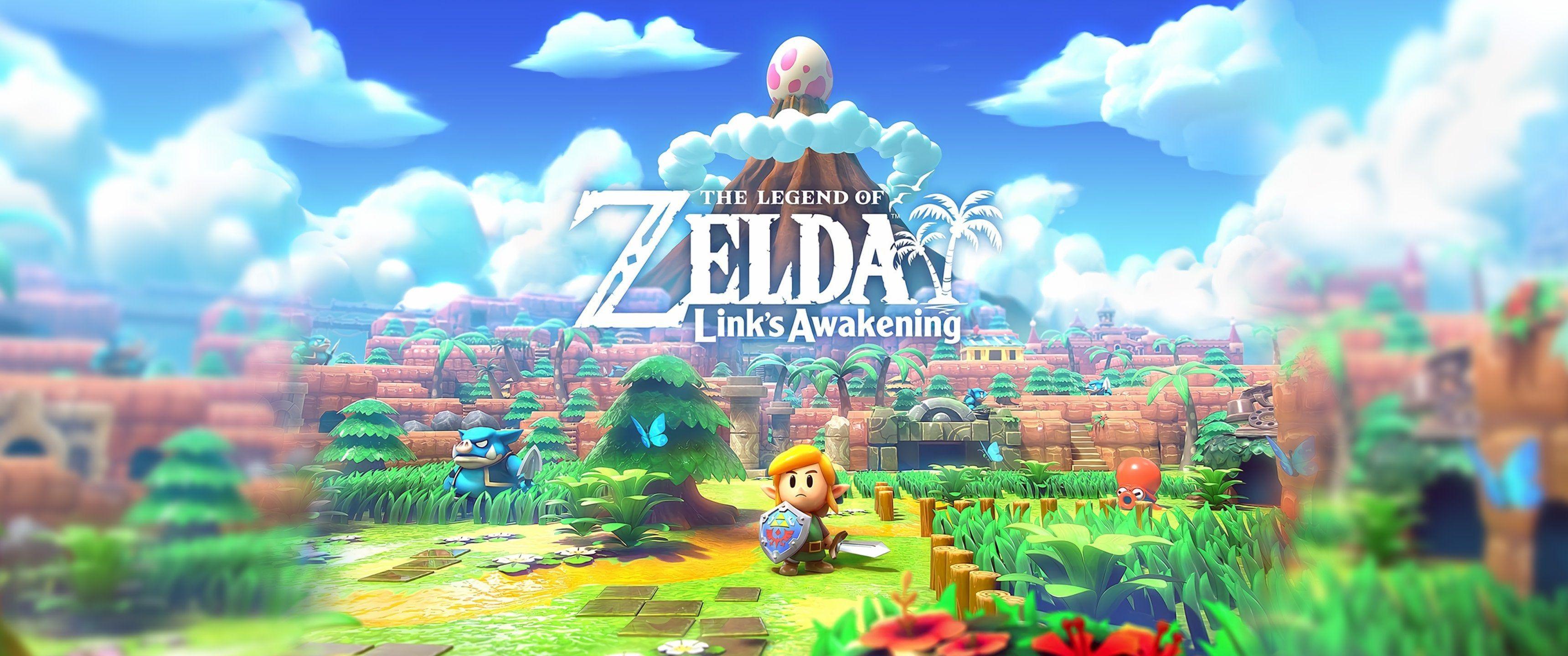Ultrawide Version Of The Cover Art Wallpaper Art Cover Lahd Ultrawide Version Wallpaper Zelda C Links Awakening Legend Of Zelda Zelda Link S Awakening