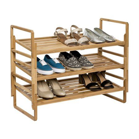 Better Homes And Gardens 3 Tier Nesting Bamboo Shoe Rack