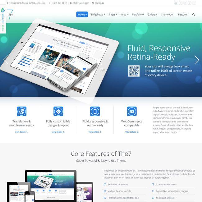 The7 Responsive MultiPurpose WordPress Theme | WordPress Theme ...