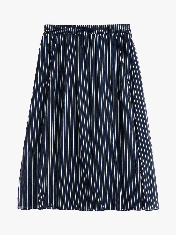 ab4bb712d Buyhush Marina Stripe Midi Skirt, Midnight Blue/White, 12 Online at  johnlewis.com