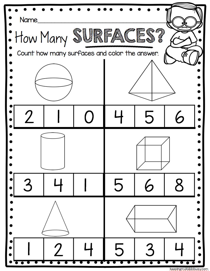 Kindergarten Geometry Unit - FREEBIES | Shapes worksheet ...