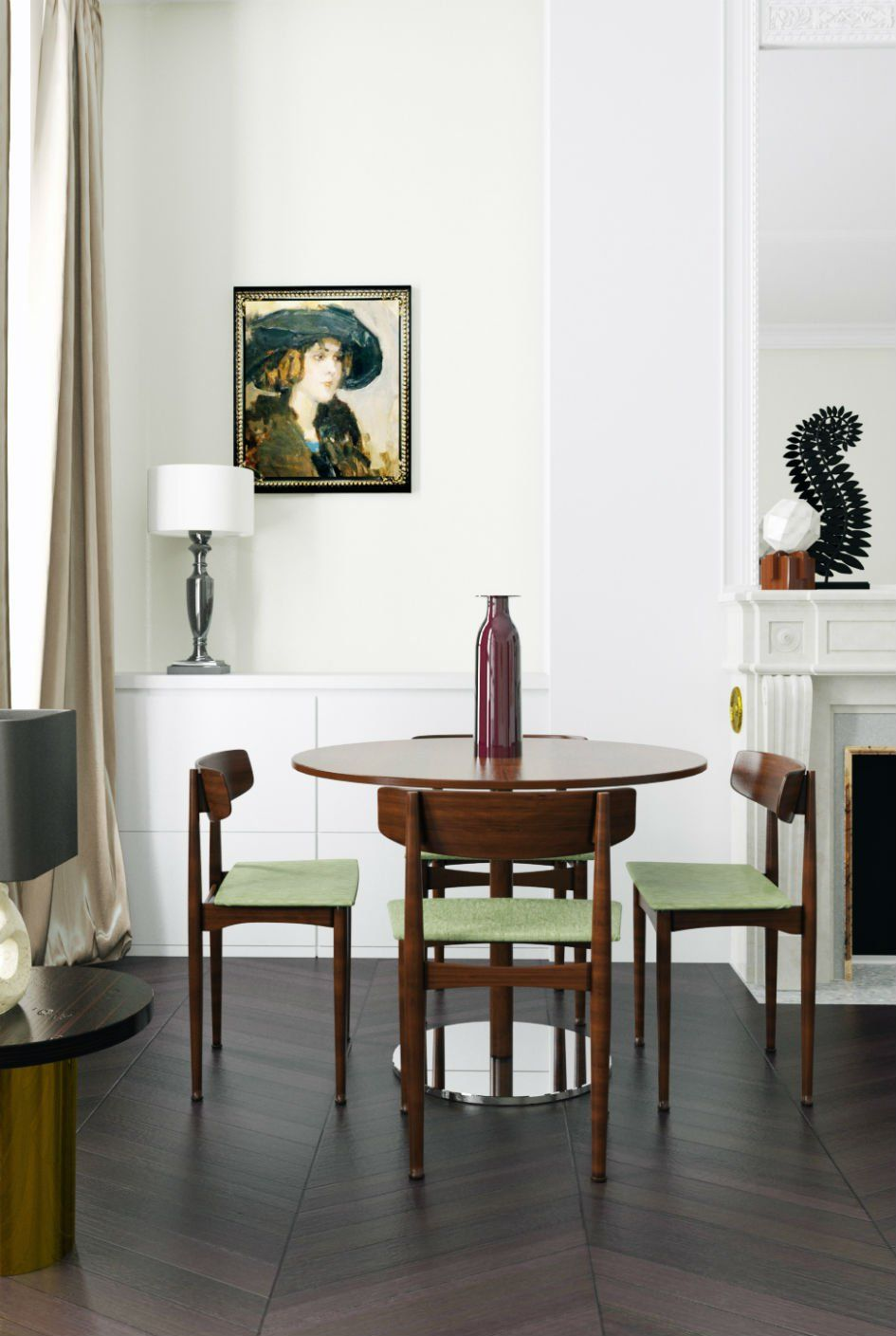 Midcentury Modern Furniture And Parisian Chic Flair Home Decor