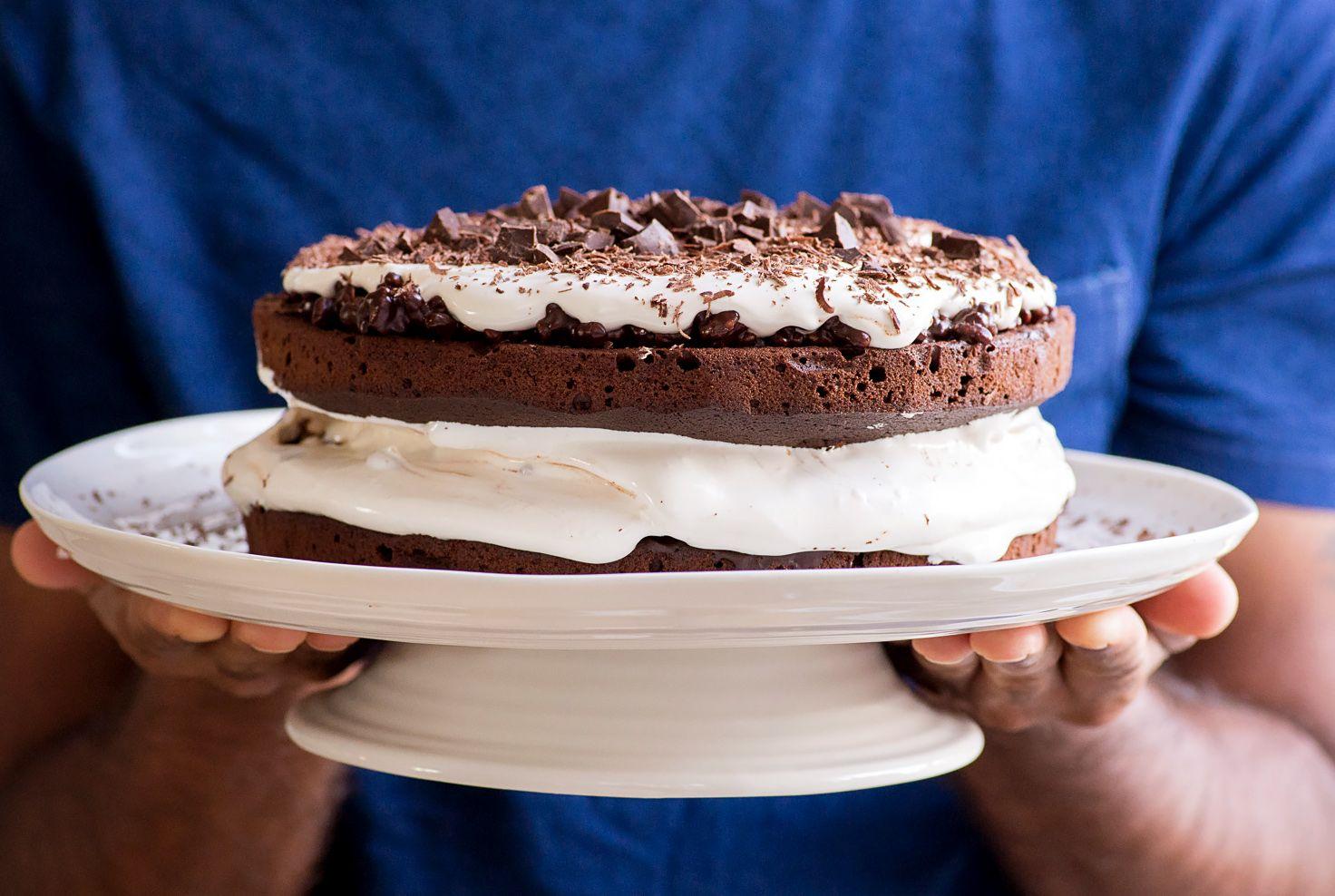 Jamie olivers chocolate celebration cake with puffed rice