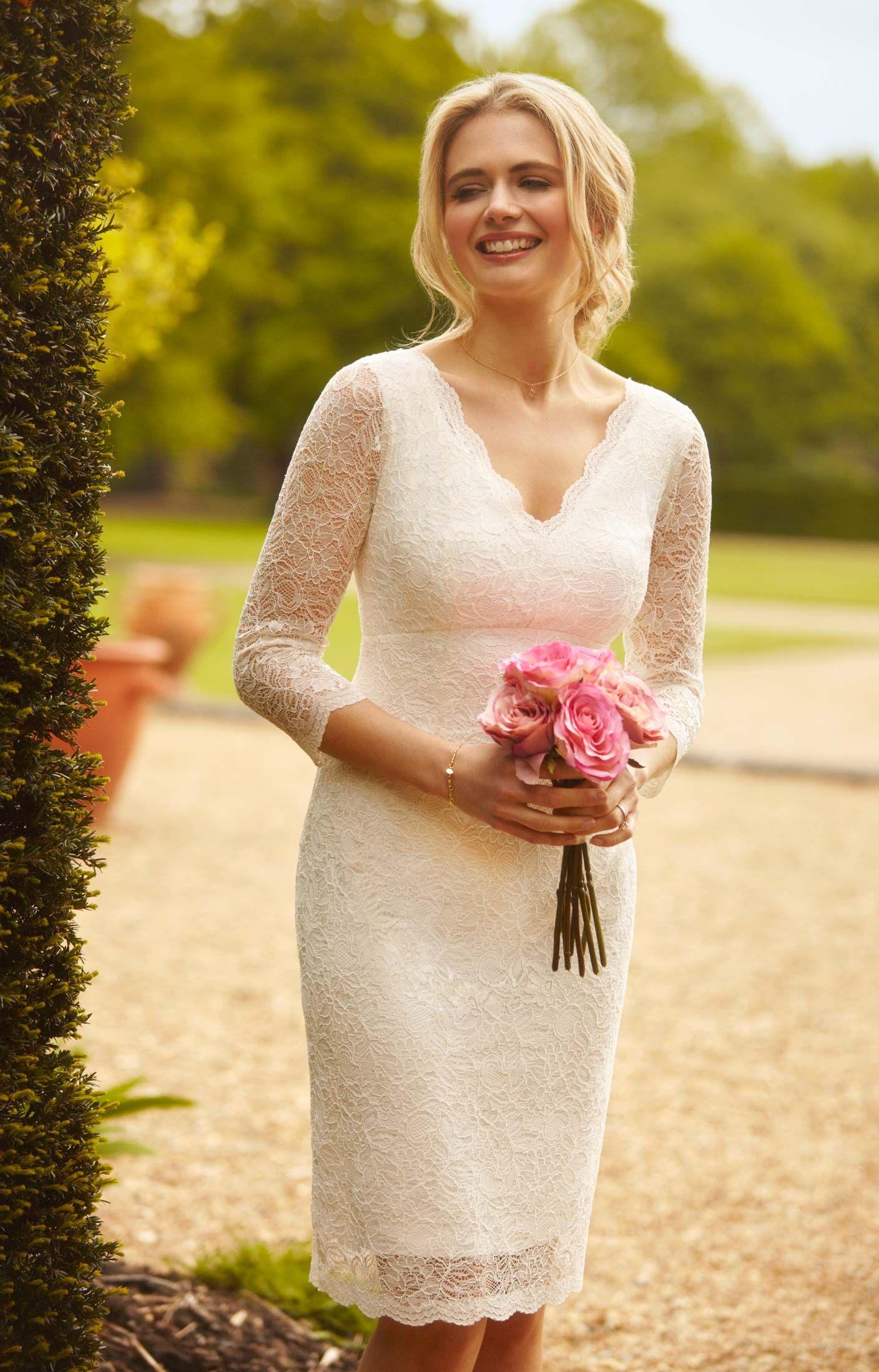Spitzenkleid Anya Kurz | Elfenbein, Hochzeitskleid und Spitze