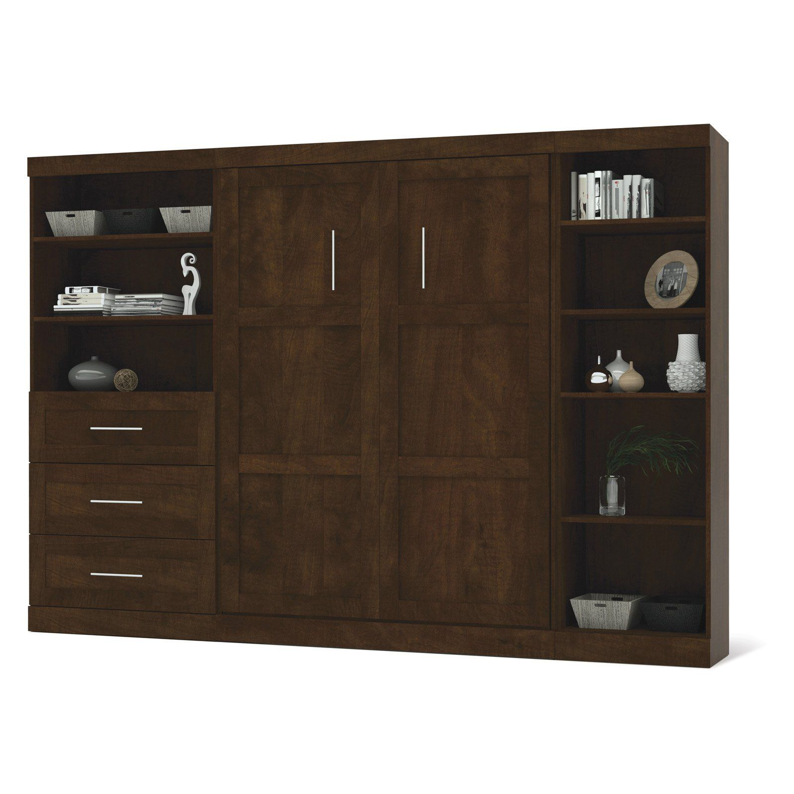 Bestar Pur Murphy Wall Bed With One 5-Shelf And One 3
