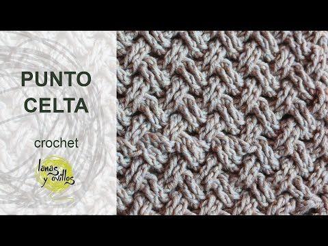 Tutorial Punto Celta Crochet o Ganchillo - http://www.knittingstory ...