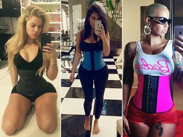 1bea84c3fb Celebrities wearing latex waist cincher corsets
