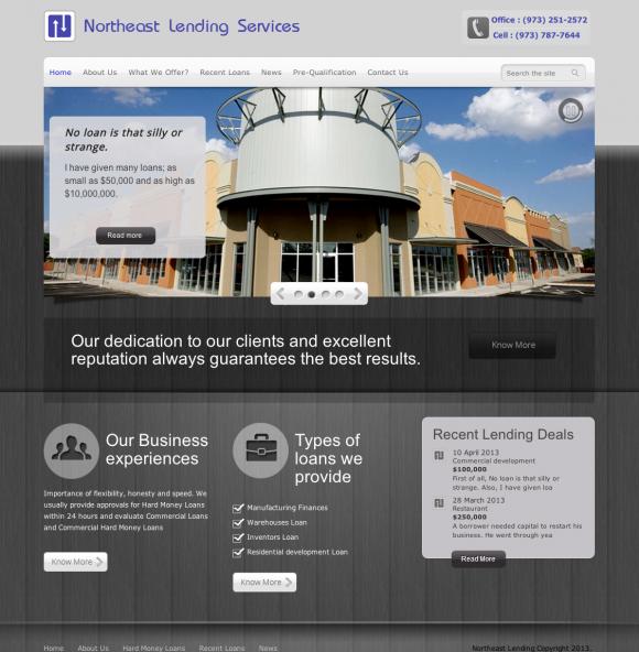 Njseos Developed An Internet Marketing Plan Website Design Project For Northeast Lending Services Website Design Internet Marketing Plan Money Lender