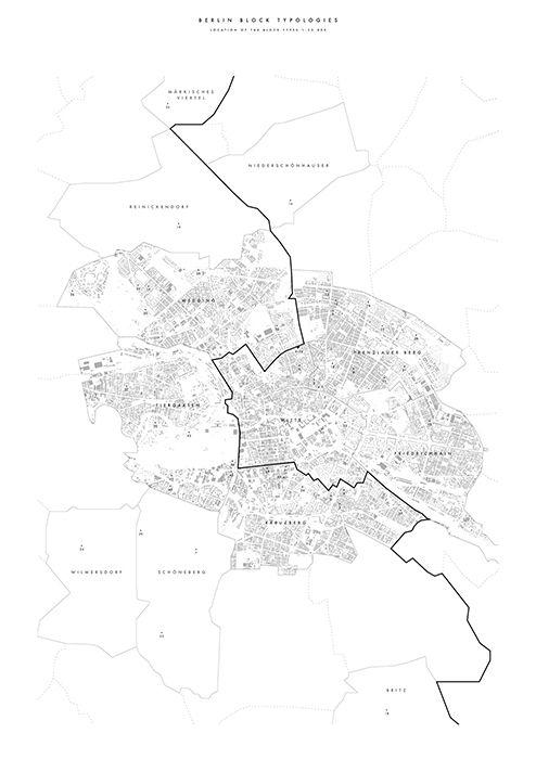 Plan indicating location of Berlin Block Typologies 1.3